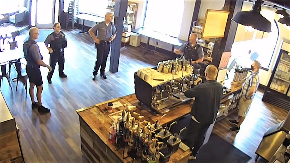 Oregon cops refused to wear masks in coffee shop -- and went on profane tirade when confronted: report