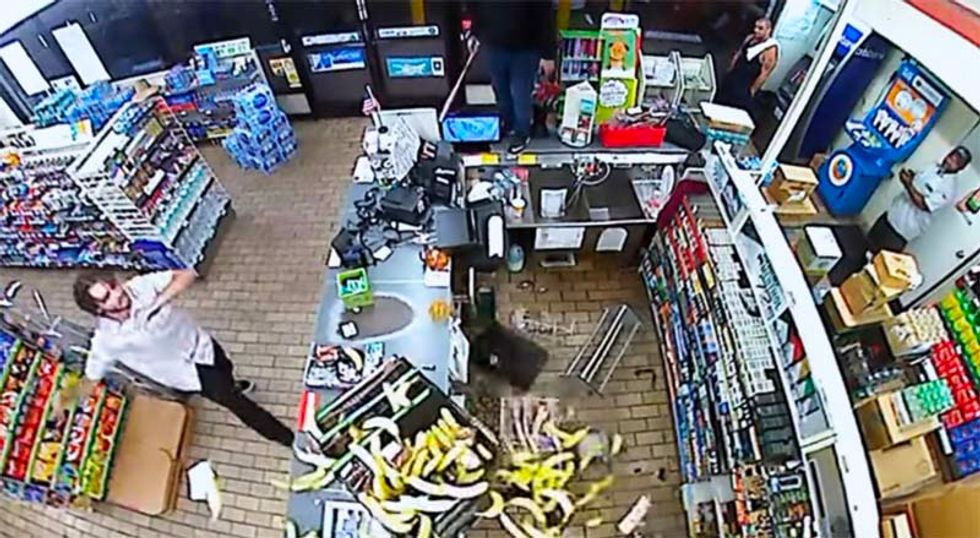 WATCH: Furious California man smashes out windows, destroys 7-11 after being denied use of phone
