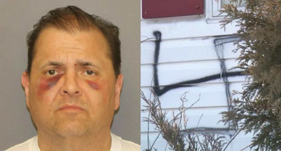 Trump supporter admits spray-painting swastikas on his own house in hate crime hoax