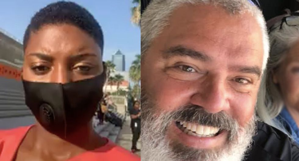 Black reporter calls out white police union chief for 'dangerous and false statement' about Florida protest
