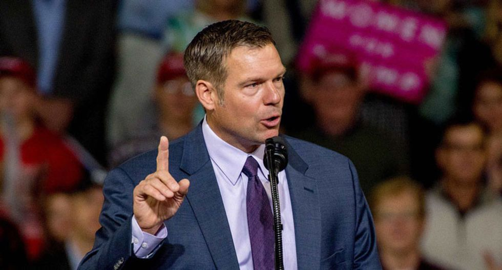 Senate hopeful Kris Kobach — bankrolled by billionaire Peter Thiel — says coronavirus numbers are 'being cooked' to hurt Trump