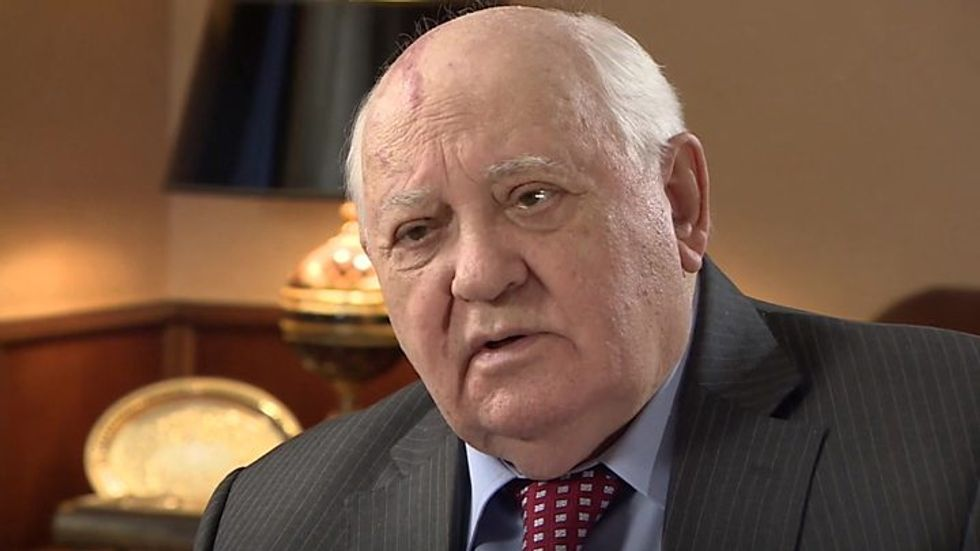 US exit from nuclear arms pact increases risks of war: Mikhail Gorbachev