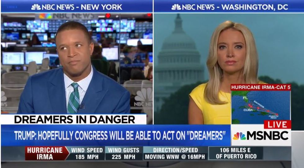 MSNBC host stumps RNC's Kayleigh McEnany: 'Why does Joe Arpaio deserve leniency, but not innocent Dreamers?'