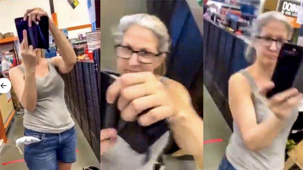 Woman at Home Depot cites 'white power' as reason she's 'entitled' not to wear a mask