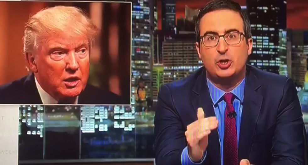 WATCH: Angry John Oliver blisters 'f*cking a**hole' Donald Trump for his comments on Khan family