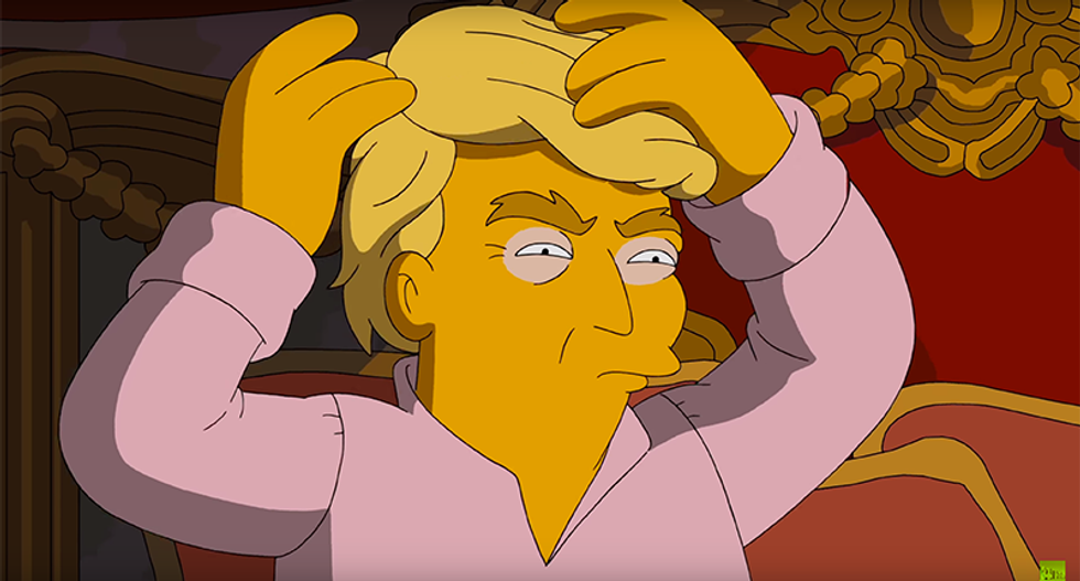 WATCH: The Simpsons decide who they're voting for in this hilarious election spoof