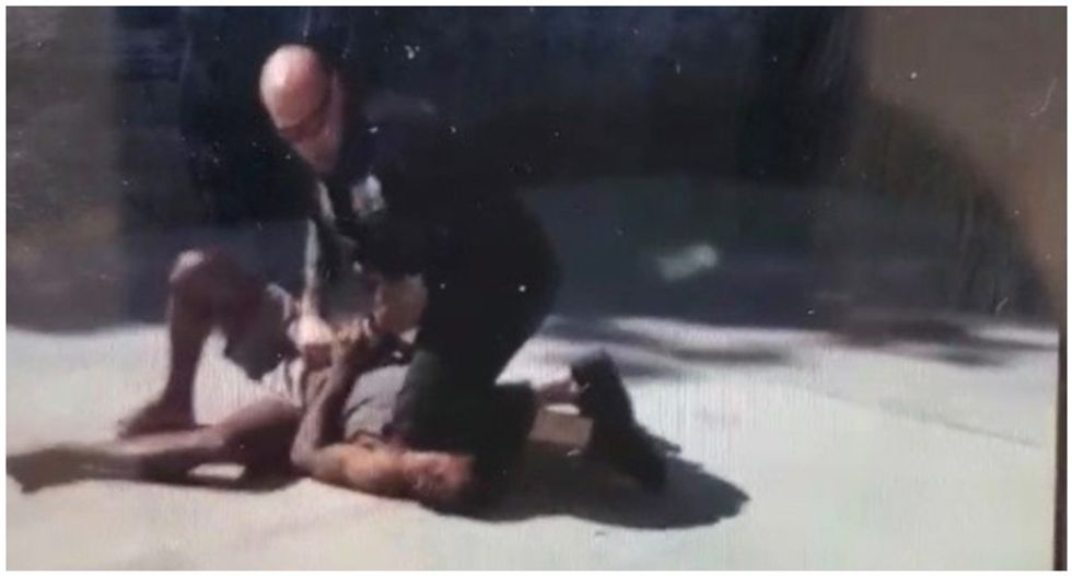 New video showing New York cop putting knee on detainee's neck sparks anger