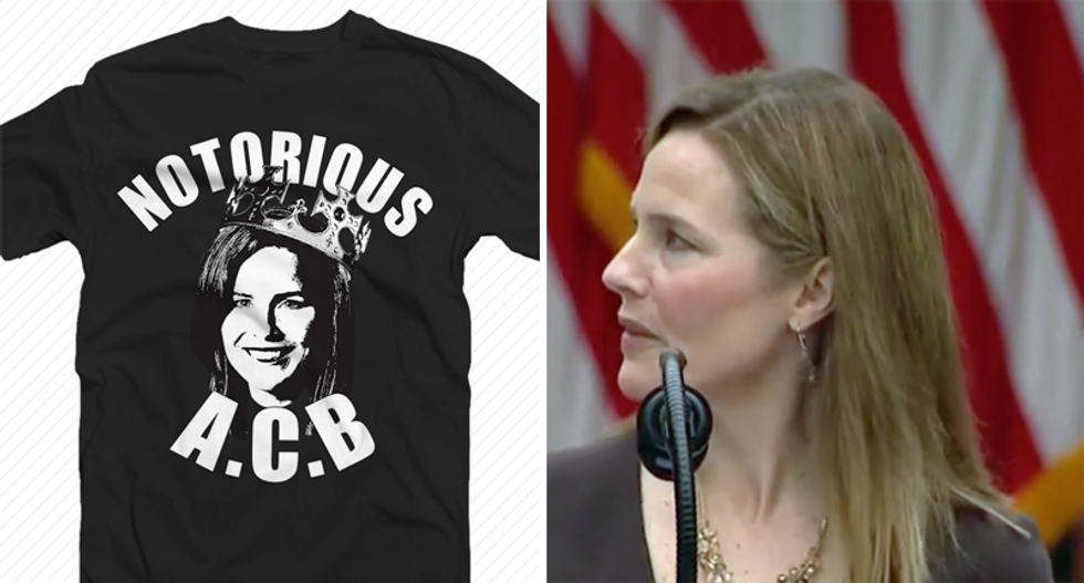 Senate Republicans attempt to brand Amy Coney Barrett as the 'Notorious ACB'