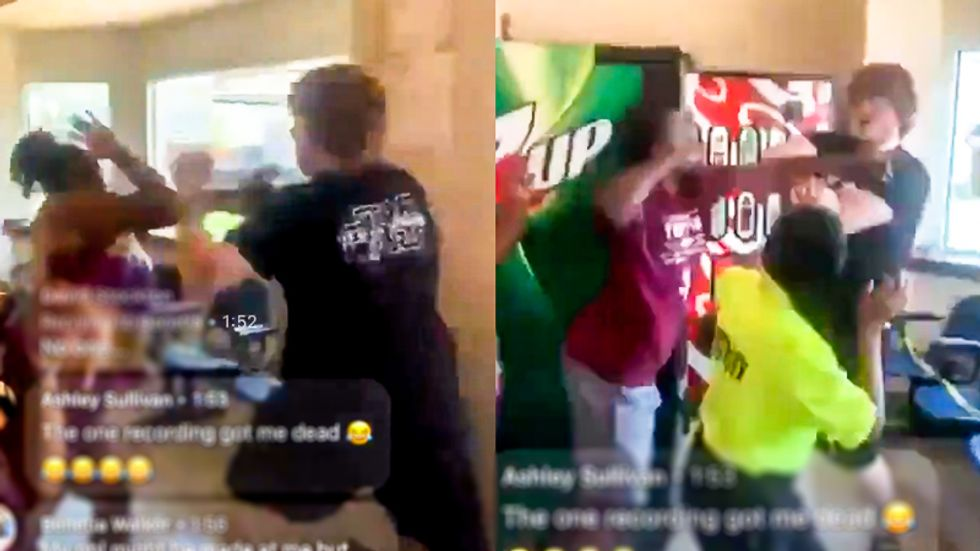 Fight breaks out in Louisville after white woman is accused of spitting on Black woman