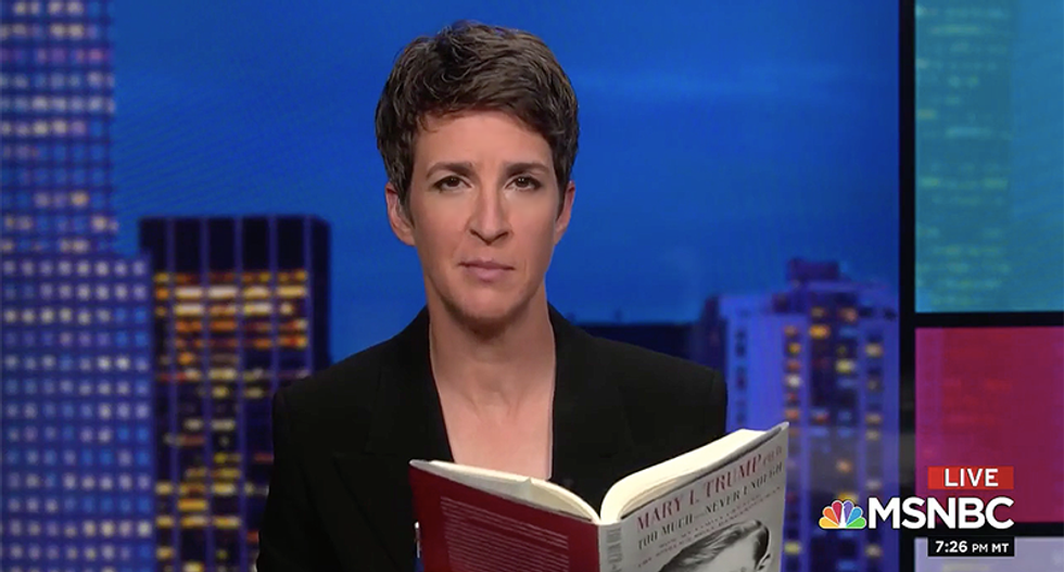 'When the Supreme Court hands down the decision about Trump's taxes - read page 185': Maddow says of new book