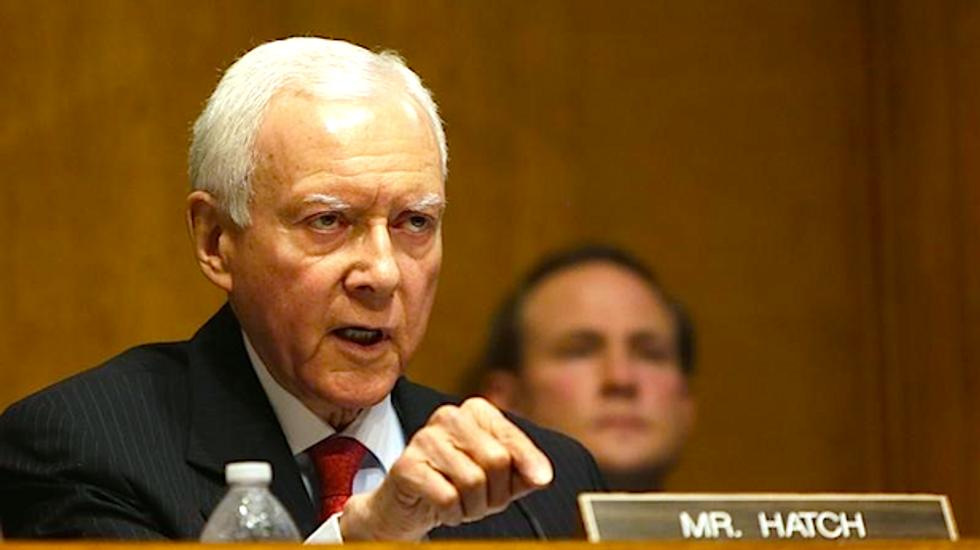 Republican Senator Orrin Hatch: Progressives are 'just straight old dumbass liberals'