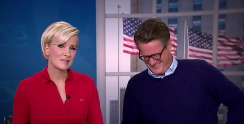 WATCH: Morning Joe panel bursts out laughing after 'flailing' Trump urges voters to watch a sex tape