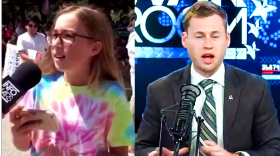 'This girl didn't defeat me!': InfoWars reporter defensively insists he didn't lose debate with a young girl