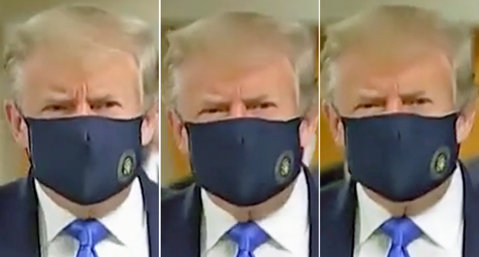 Trump slammed for delay in mask wearing: 'It took 137,000 dead Americans to get him to mask up'