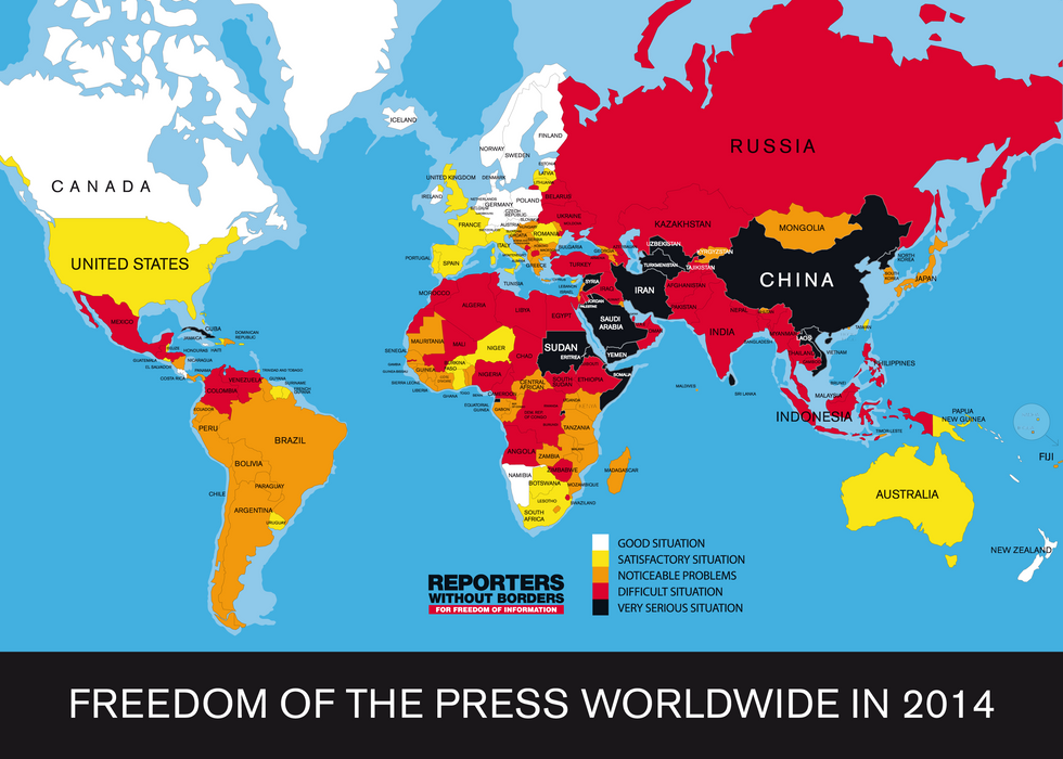 U.S. press freedom plunges to 46th, placing it behind former Soviet states
