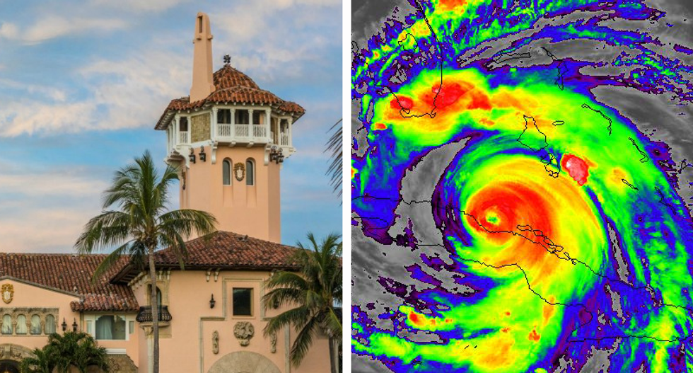 Trump's Mar-a-Lago sits in Hurricane Irma's path -- and the federal government is insuring it