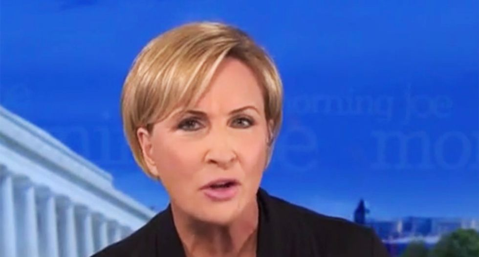 Morning Joe's Mika rains hell on 'pathetic' Trump for White House smear campaign against Dr Fauci