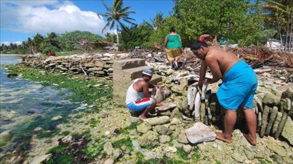 Fiji leader invites climate-hit Kiribati residents to relocate