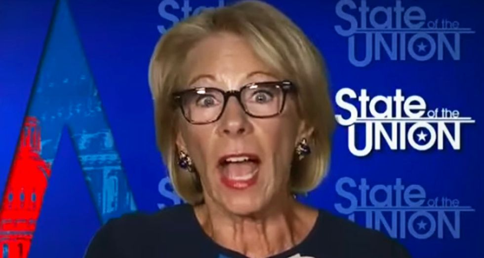 Teachers 'going to go all out' to punish Betsy DeVos in November by defeating Trump