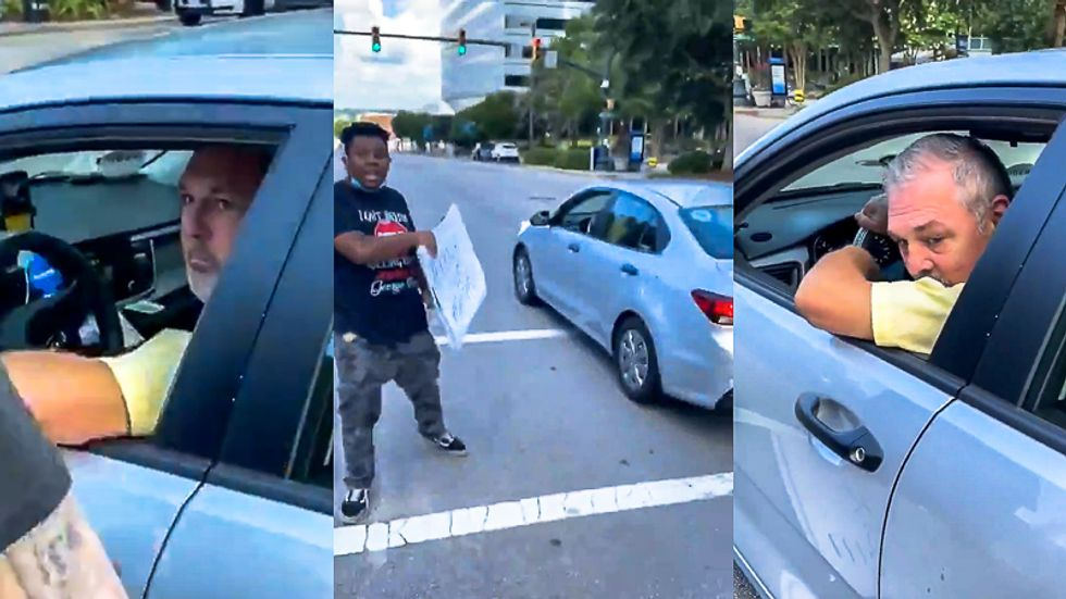 Suspected Uber driver arrested for allegedly pointing gun at anti-Confederate protesters