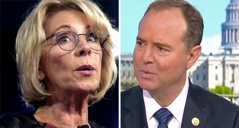 'Pop quiz for Betsy DeVos': House Intel Chairman challenges Secretary of Education to multiple-choice test