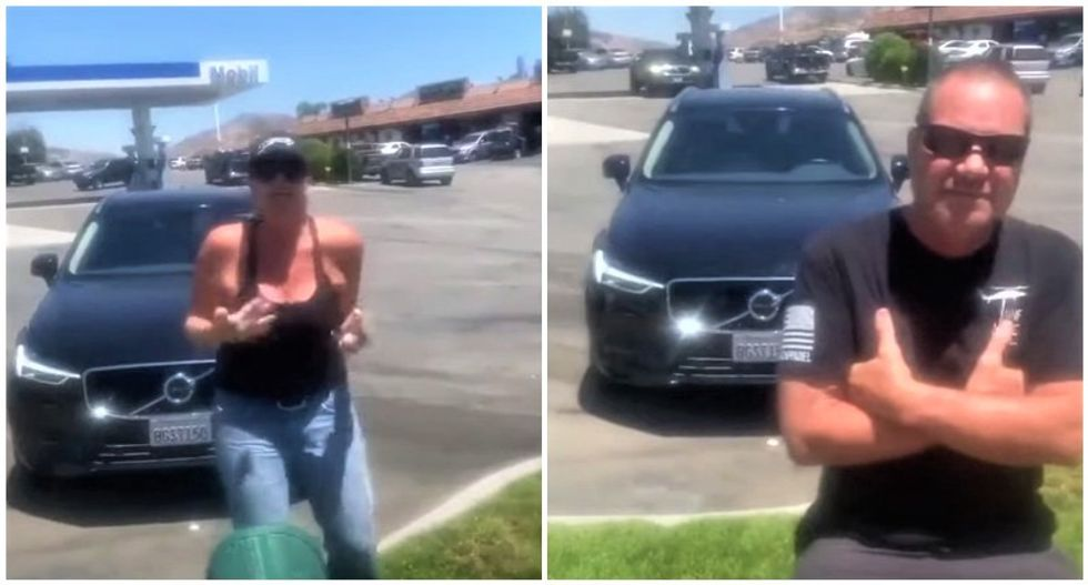 WATCH: Hispanic man harassed by white couple for bringing his 'ghetto' fruit stand to their community