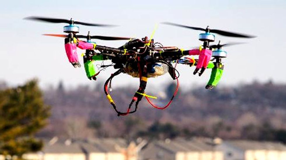 Small private drones ignite regulatory battle over air space