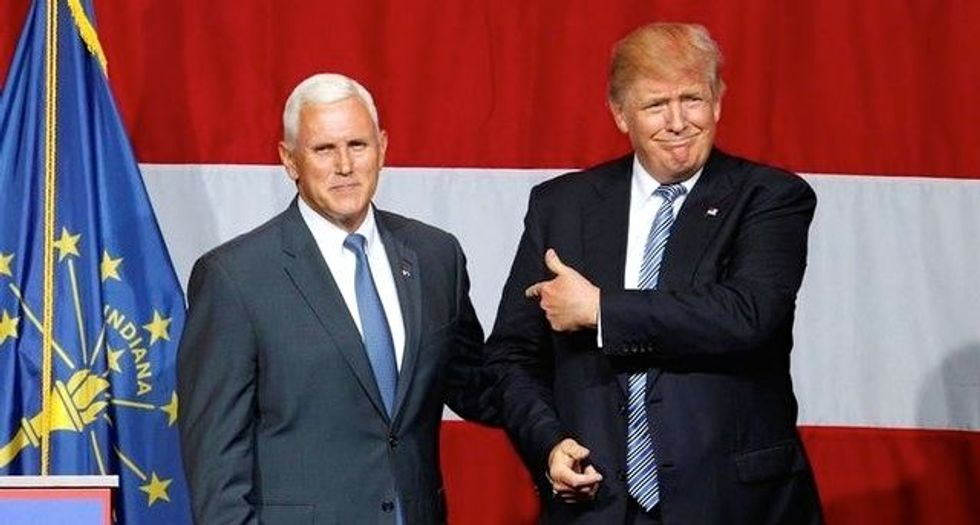 In circuitous speech, Trump touts VP pick Pence as man to unify party