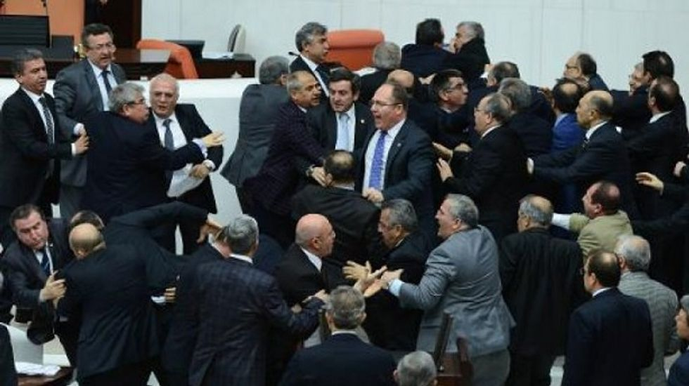 Turkish parliament erupts in fistfight over judicial reforms