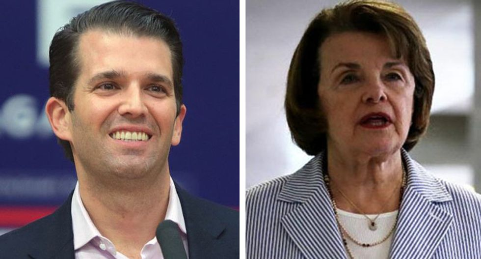 Feinstein: Trump Jr will appear in public before Senate Judiciary 'come hell or highwater'