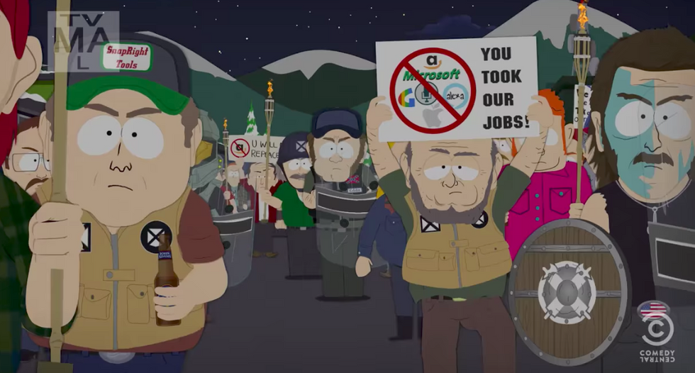 'Tiki torches and Confederate flags': South Park to ridicule white nationalists in upcoming season