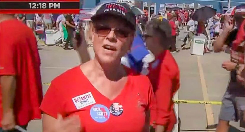 Trump rally-goer spouts wild conspiracy theory on MSNBC:  George Soros controls 'all of these voting machines'