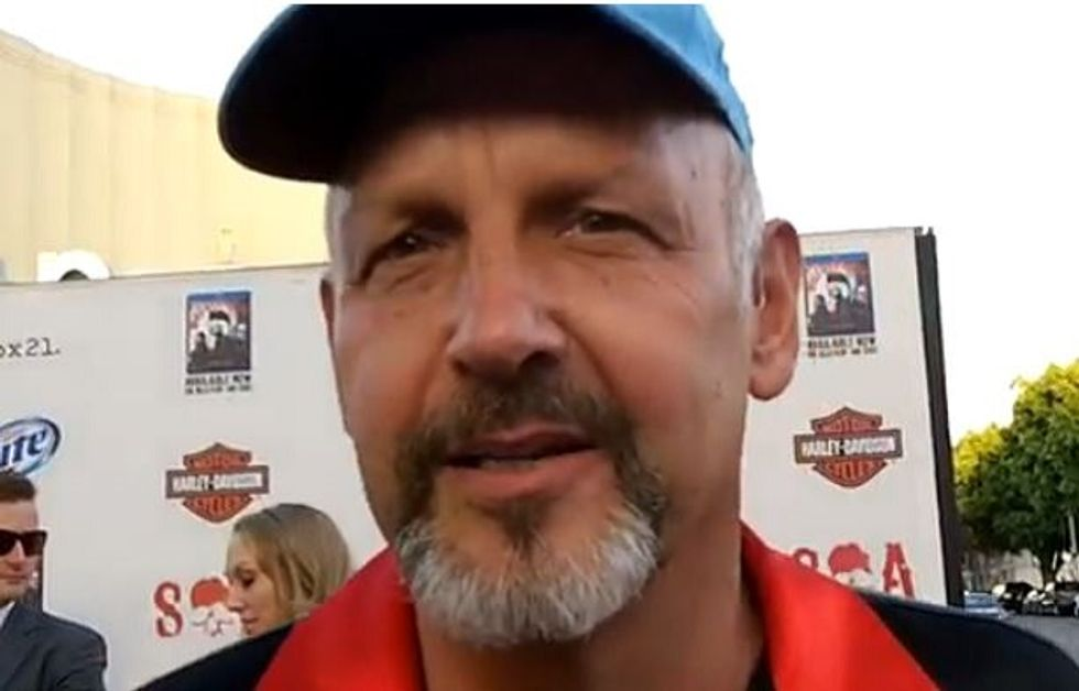 'Justified' actor Nick Searcy asked us not to call him a 'Teabagger,' 'Ultra-Con,' or 'Bigot' in this headline