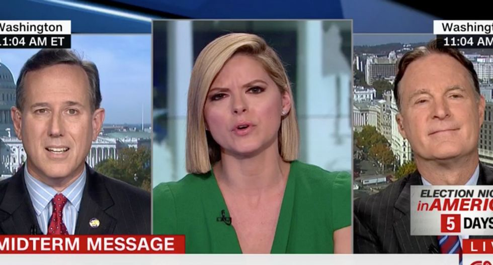 Rick Santorum claims CNN's Kate Bolduan thinks all Republicans are racists -- and she obliterates him
