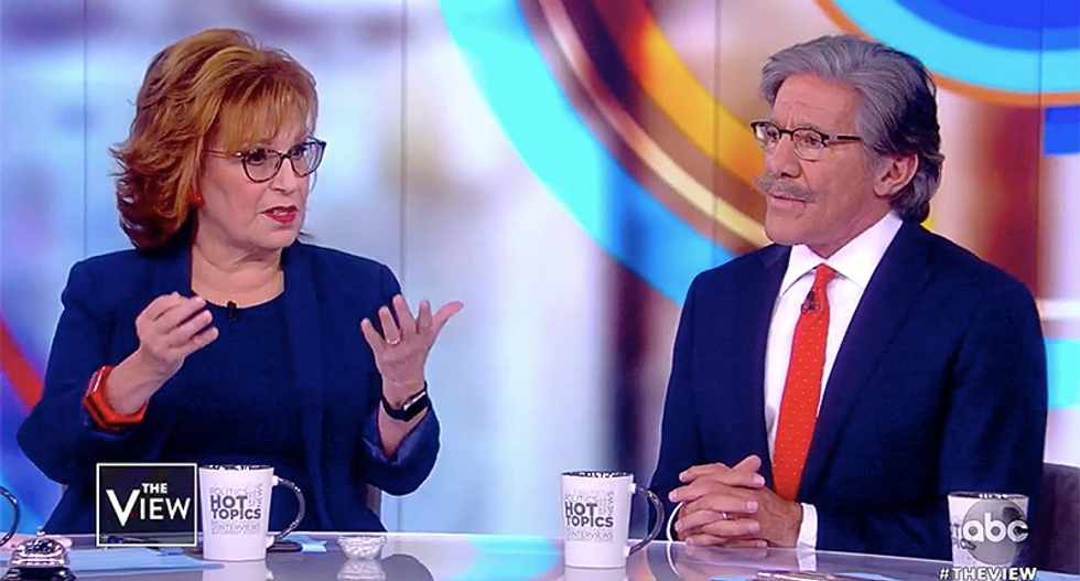 The View destroys Geraldo Rivera for trying to excuse his MAGABomber false flag conspiracy theory as a 'brain fart'