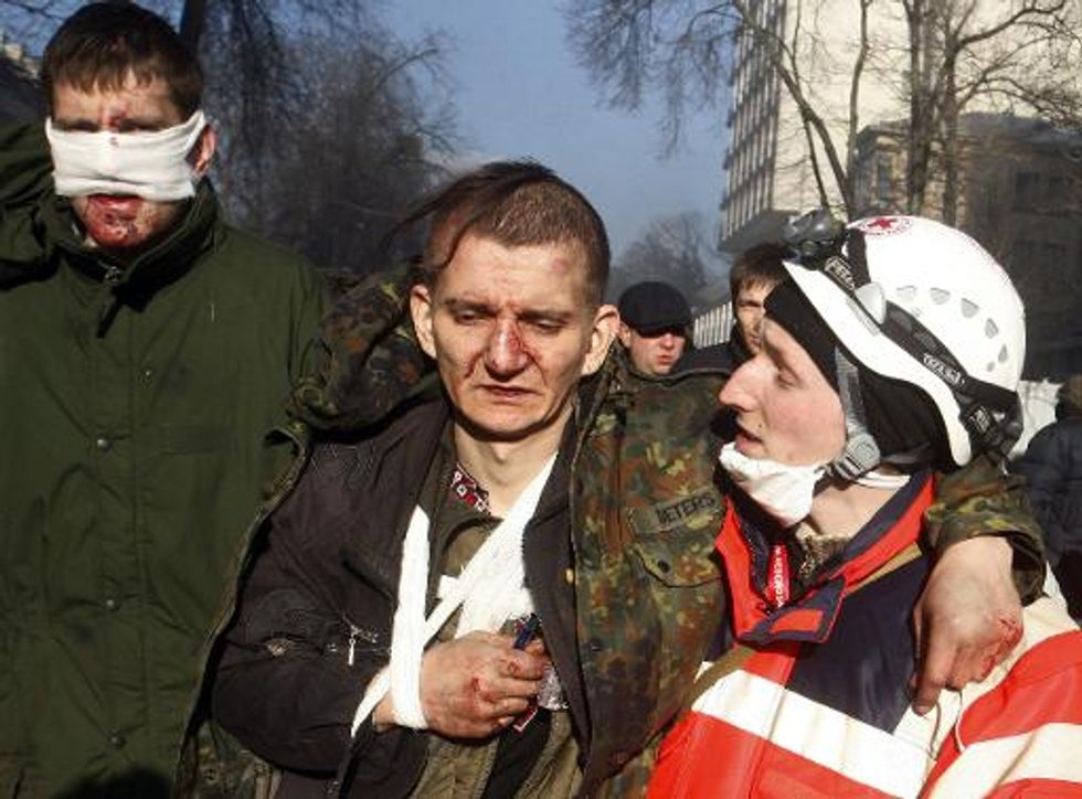 Long, bloody night in Kiev's hospitals for staff and protesters