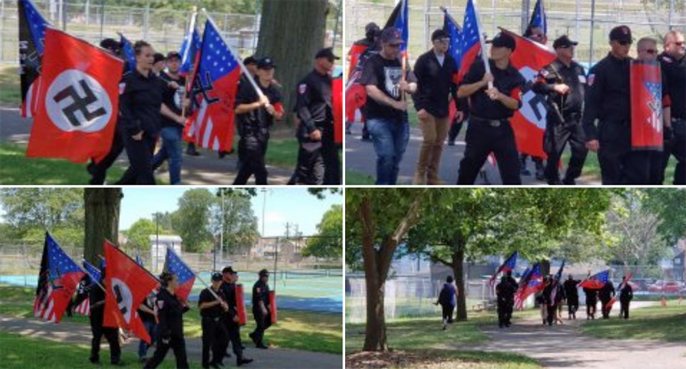 Neo-Nazi group marches in Pennsylvania -- in defiance of COVID-19 regulations