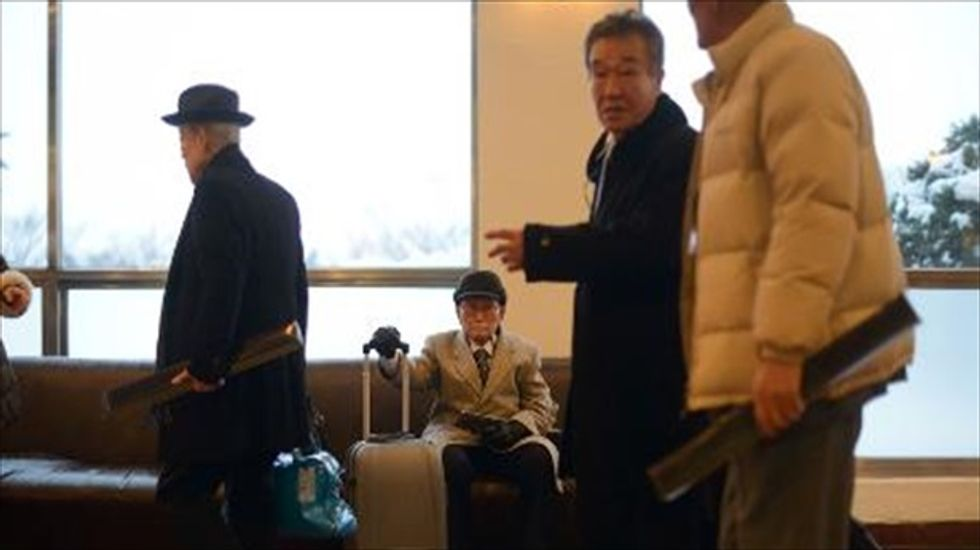 Families divided by Korean War share private moments as reunion event continues
