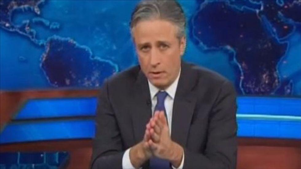 Jon Stewart mocks media and Texas Repub for catching 'sanity-resistant strain of fear'