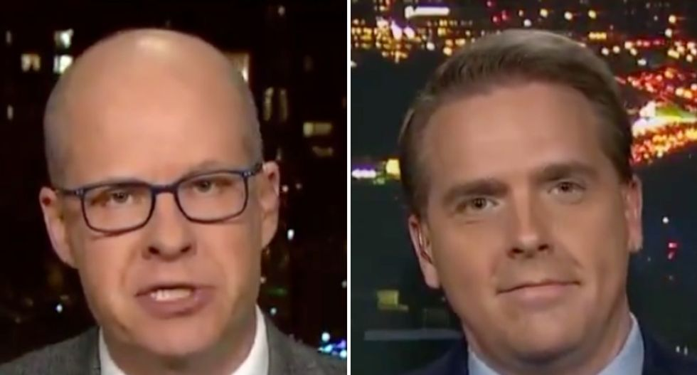 Watch Conservative Max Boot brutally berate former Bush aide for defending Trump: 'The stench will never come off'