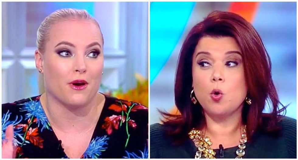 The View's Meghan McCain throws a tantrum after Ana Navarro smacks her down over Oprah