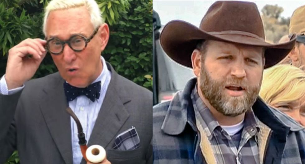 Why is Roger Stone campaigning to convince Trump to pardon the Bundys?