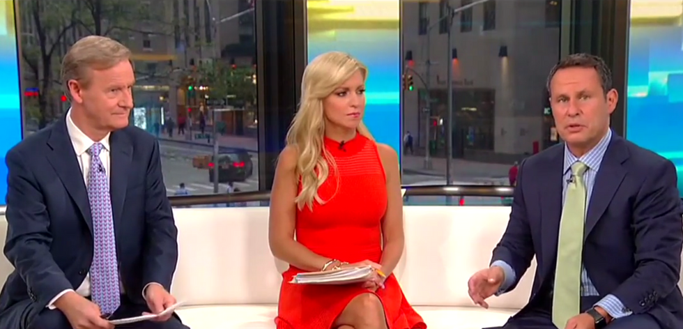 Fox & Friends' Ainsley Earhardt panics after Brian Kilmeade points out bombs targeted Trump critics: 'That's all speculation'