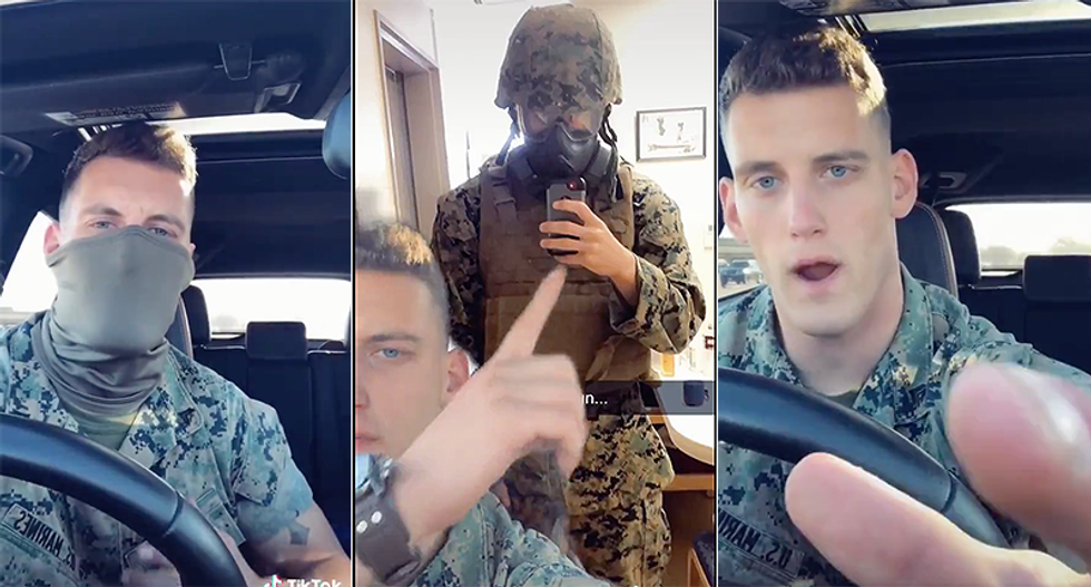 Military member calls out 'beta' wimps who complain about wearing a mask