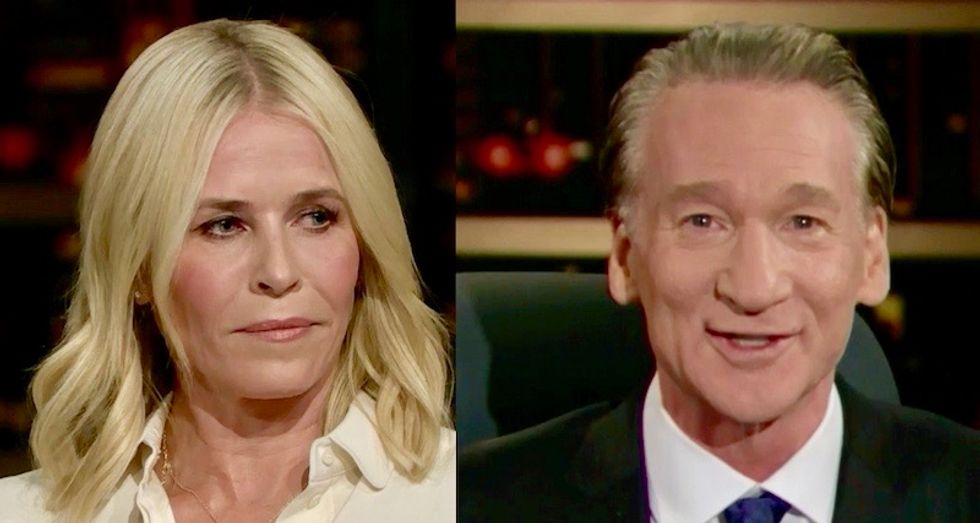 Bill Maher and Chelsea Handler team up to hilariously destroy Trump's lies about the 'migrant caravan'