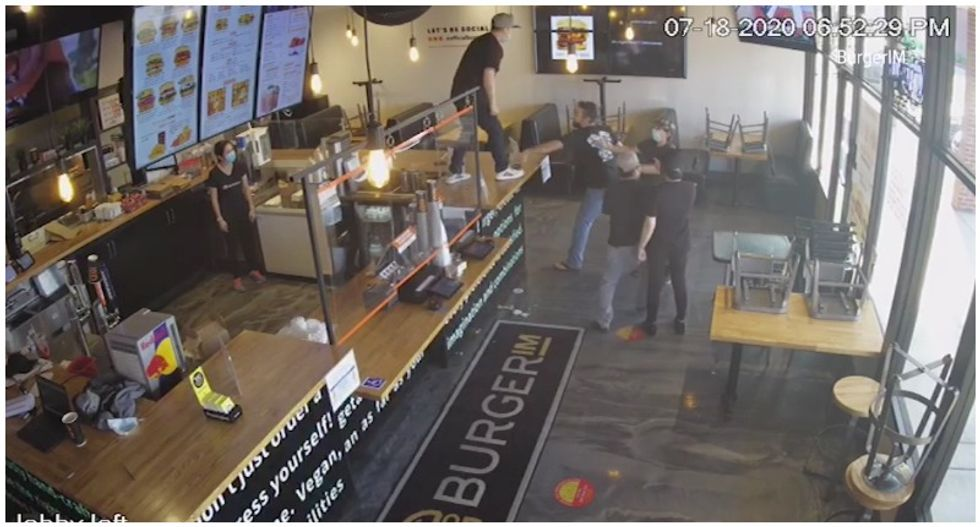 WATCH: Fight breaks out in burger joint after customer allegedly hurls racial slurs at Asian employee