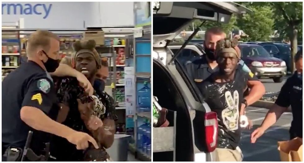 Black man violently arrested in Walmart after 'test riding a bike' he purchased and telling strangers 'he hopes they have a great day'