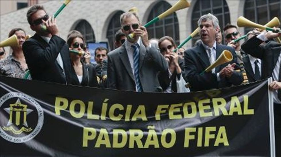 Brazilian federal police plan two-day strike calling for better World Cup security
