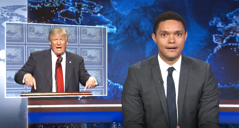Trevor Noah rips Trump coverage: We're talking about 'titties' instead of how he'll bankrupt America