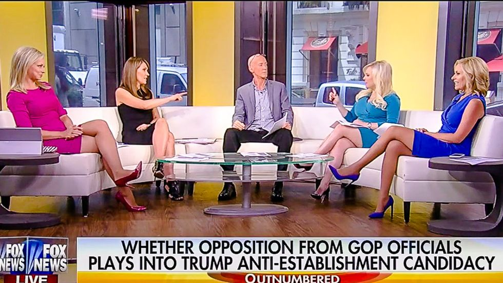 Four Fox women drop talking points and pummel male pundit calling Trump 'the ultimate feminist'